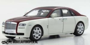 Rolls-Royce Ghost 2011 (Wit/Rood) (35 cm) 1/18 Kyosho