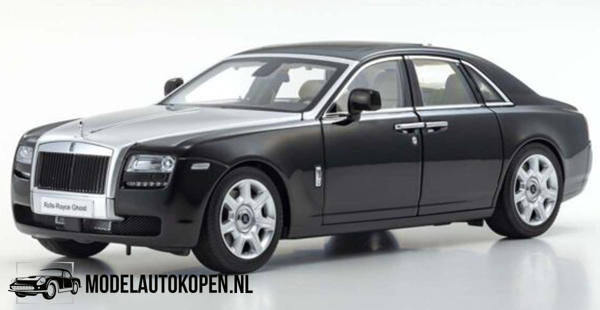 Rolls-Royce Ghost 2011 (Zwart/Zilver) (35 cm) 1/18 Kyosho