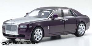 Rolls-Royce Ghost 2011 (Paars/Zilver) (35 cm) 1/18 Kyosho