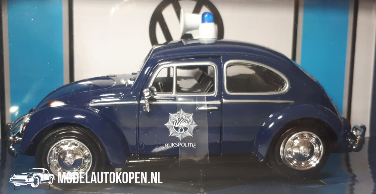 1966 Volkswagen Beetle 'Rijkspolitie' (Donkerblauw) (20 cm) 1/24 Motor Max