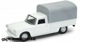 1968 Peugeot 404 Pick Up (Wit) (10 cm) 1/43 Welly