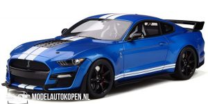 Ford Mustang Shelby GT500 (Blauw) (25 cm) 1/18 Solido