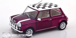 Mini Cooper 1.3i Sport Pack (Paars Metallic) (15 cm) 1/18 Solido