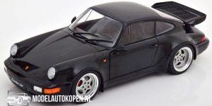 Porsche 911 (964) Turbo (Zwart) (22 cm) 1/18 Solido
