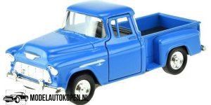 1955 Chevrolet Stepside Pickup (Blauw) (10 cm) 1/43 Welly