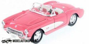 Chevrolet Corvette 1957 (Roze) (10 cm) 1/43 Welly