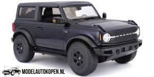 2021 Ford Bronco Wildtrak (Zwart) (24 cm) 1/18 Maisto