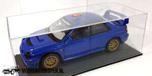 Subaru Impreza S7 WCT (Blauw) (24cm) + Showcase 1:18 Solido
