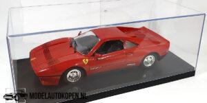 Ferrari GTO (Rood) (27cm) + Showcase 1:18 Polistil