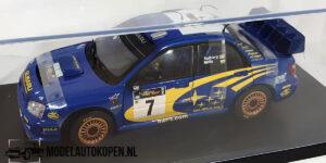 Subaru Impreza WRC #7 (Blauw) (25cm) + Showcase 1:18 Sun Star