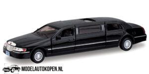 1999 Lincoln Town Car Stretch Limousine (Zwart) (18 cm) 1/38 Kinsmart