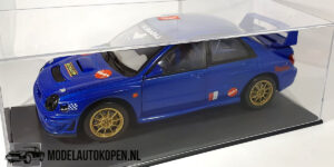Subaru Impreza S7 WCT Rally (Blauw) (24cm) + Showcase 1:18 Solido