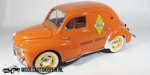 Renault 4 CV Garage Service (Oranje) (21cm) 1:18 Solido