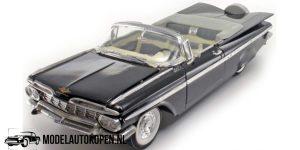 Chevrolet Impala 1959 (Zwart) (30 cm) 1/18 Road Legends Die-Cast Collection