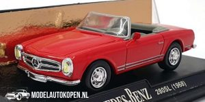 1968 Mercedes-Benz 280SL (Rood) (10 cm) 1/43 New-Ray