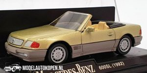 1992 Mercedes-Benz 600SL (Beige) (10 cm) 1/43 New-Ray
