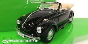 Volkswagen Beetle Convertible (Zwart) (10 cm) 1/43 Welly