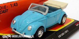 1951 Volkswagen VW1200 (Lichtblauw) (10 cm) 1/43 New-Ray