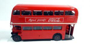 Coca-Cola Dubbeldekker London Bus (Rood) (16 cm) 1/64 Solido