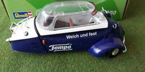 Messerschmitt KR 200 Tempo (Blauw/Wit) (15 cm) 1/18 Revell