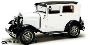 Ford Model A Tudor 1931 (Wit) (21 cm) 1/18 Sun Star