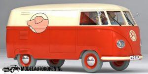 Kuifje/TinTin - De VW combi uit De Zaak Zonnebloem (10 cm) 1/43 Atlas