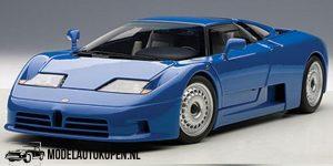 Bugatti EB 110 (Blauw) 1991 1/18 Bburago + Showcase