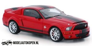 2008 Shelby GT500 Super Snake (Rood/Zwart) (30 cm) 1/18 Shelby Collectibles Legend Series