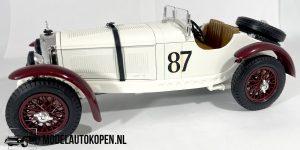 "Mercedes-Benz SSKL ""Caracciola"" (Crème) 1931 1/18 Bburago + Showcase"