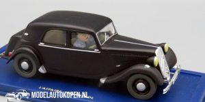 Kuifje/TinTin - De Citroën 15/6 uit De Zaak Zonnebloem 1952 (10 cm) 1/43 Atlas