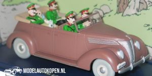 Kuifje/TinTin - de Ford V8 cabriolet uit De Scepter van Ottokar 1937 (10 cm) 1/43 Atlas