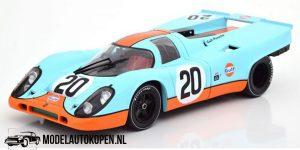 Porsche 917K Gulf #20 (24h Le Mans 1970) (Lichtblauw) (23 cm) 1/18 CMR