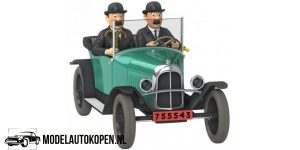 Kuifje/TinTin - De Citroën Torpedo van de Jansens uit Kuifje en het Zwarte Goud (10 cm) 1/43 Atlas