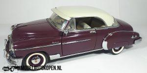 Chevrolet Bel Air 1950 (Bordeauxrood) (20 cm) 1/24 Franklin Mint + Luxe Showcase