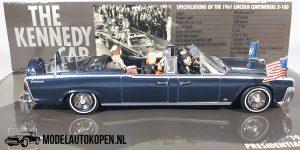 JFK Car Lincoln Continental 1961 (Blauw) (15cm)1:43 MiniChamps
