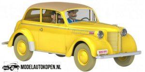 Kuifje/TinTin - De Opel Olympia cabriolet uit De Scepter van Ottokar (10 cm) 1/43 Atlas