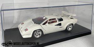 Lamborghini Countach 1988 (Wit) (22cm) 1:18 Bburago + Showcase