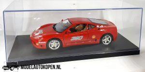 Ferrari 360 Modena Challenge (Rood) 1/18 Bburago + Showcase