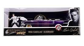 1956 Cadillac Eldorado + Elvis Presley Figuur (Paars) 1/24 Jada