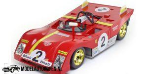 Ferrari 1972 312P + Racing Fuel Pump (Rood) (22 cm) 1/18 Shell Classico Collezione