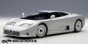 1991 Bugatti EB 110 (Zilver) (30cm) 1/18 Anson