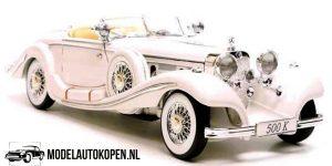 Mercedes-Benz 500K Typ Special roadster 1936 (Wit) (32 cm) 1/18 Maisto Premiere Edition